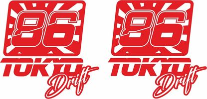 Picture of 86 Tokyo Drift Decals / Stickers