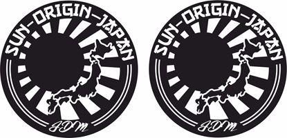 "Picture of ""Sun Origin Japan"" JDM Hand Decals / Stickers"