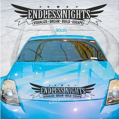 "Picture of ""Endless Nights..."" Screen Decal / Sticker"