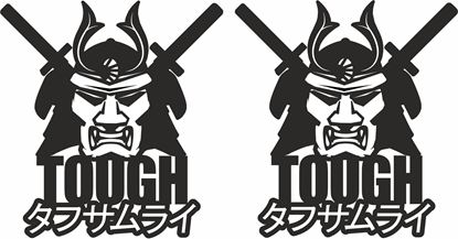 """Picture of """"Tough Samurai"""" Japanese JDM Decals / Stickers"""