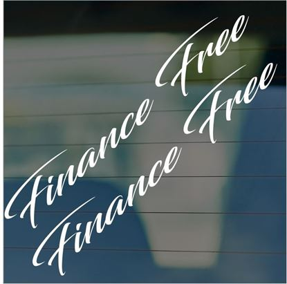 "Picture of JDM ""Finance Free""  Glass / Panel Decals / Stickers"