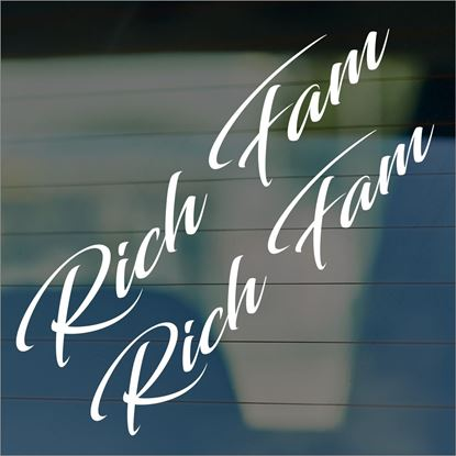 "Picture of JDM ""Rich Fam""  Glass / Panel Decals / Stickers"