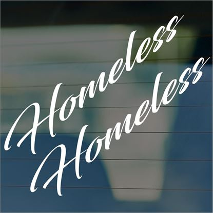 "Picture of JDM ""Homeless""  Glass / Panel Decals / Stickers"