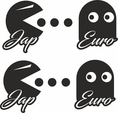 """Picture of """"Jap .. Euro"""" JDM Decals / Stickers"""