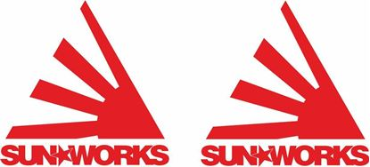 """Picture of """"Sun Works"""" JDM Decals / Stickers"""