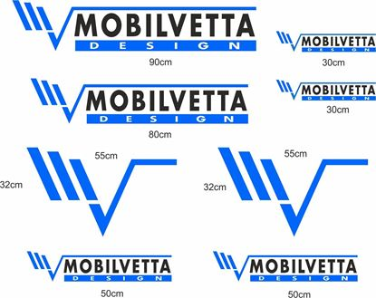 "Picture of ""Mobilvetta Design"" Decals / Stickers kit"