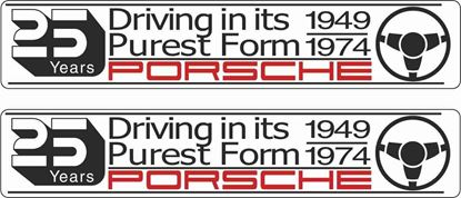 """Picture of Porsche """"25 Years..."""" general panel Decals /  Stickers"""
