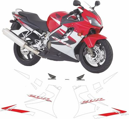 Picture of Honda CBR 600F 2004 - 2005 replacement graphics / Stickers