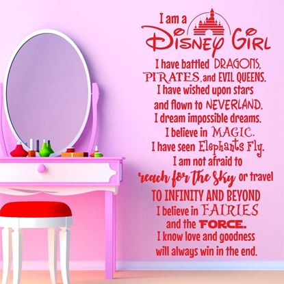 "Picture of ""I am a Disney Girl..."" Wall Art sticker"