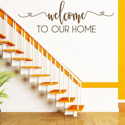 "Picture of ""Welcome to our Home.""  Wall Art sticker"
