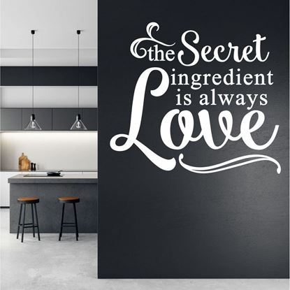 "Picture of ""The Secret Ingredient...""  Wall Art sticker"