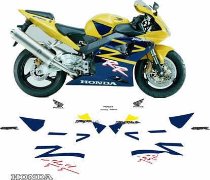 Picture of Honda CBR 954RR  2002 Fireblade Full replacement Decals / Stickers