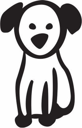 "Picture of My Stick Family  ""Dog""  Figure  Sticker"