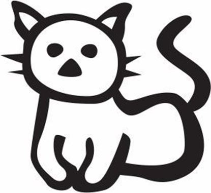 "Picture of My Stick Family  ""Cat""  Figure  Sticker"