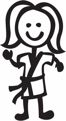 "Picture of My Stick Family  ""Daughter""  Figure  Sticker"