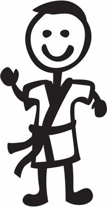 "Picture of My Stick Family  ""Dad""  Figure  Sticker"