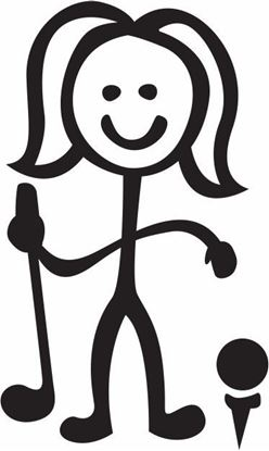 "Picture of My Stick Family  ""Mum""  Figure  Sticker"