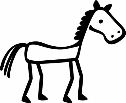"Picture of My Stick Family  ""Horse""  Figure  Sticker"