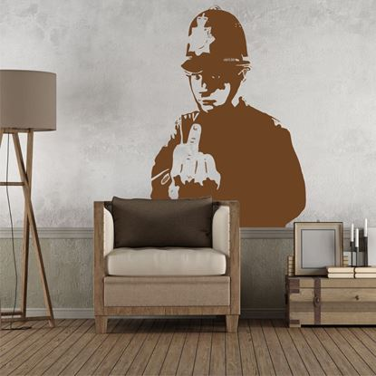 Picture of Banksy  Police man Wall Art sticker