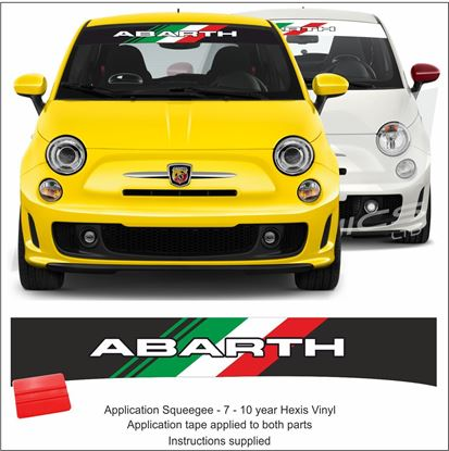 "Picture of ""Abarh Italia"" Sunstrip  / Sticker"