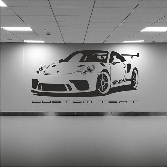 Zen Graphics Porsche 911 991 Silhouette Wall Art Sticker