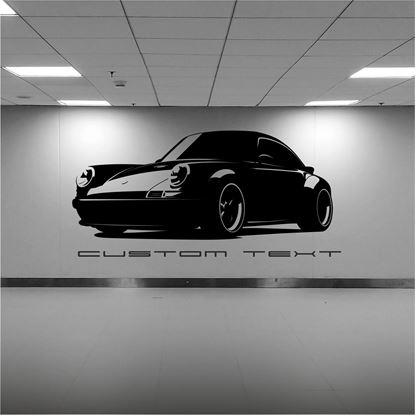 Picture of Porsche 911 Singer silhouette  Wall Art sticker