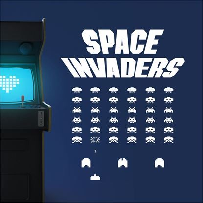 "Picture of ""Space Invaders"" Retro Wall Art sticker"
