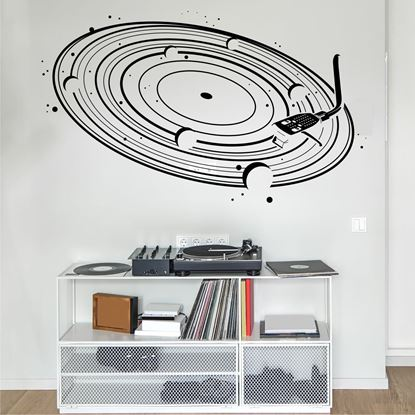 "Picture of ""Cosmic Vinyl"" Retro Wall Art sticker"