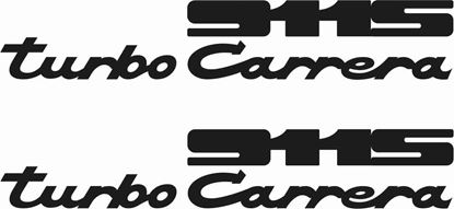 Picture of Porsche  911 Turbo Carrera decals /stickers