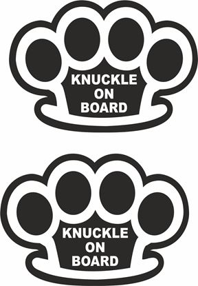 """Picture of """"Knuckle on board"""" JDM Hand Decals / Stickers"""