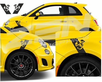 Picture of Fiat 500 / 595 Abarth  Wing Stripe / Stickers