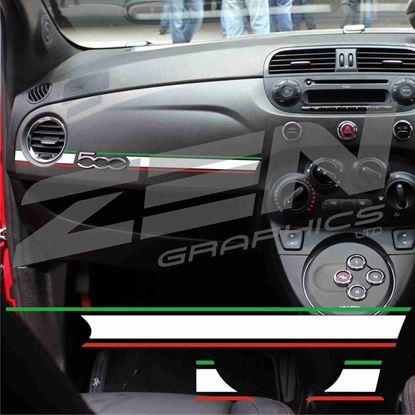 Picture of Fiat 500  Italian interior Dash Stripe  / Sticker