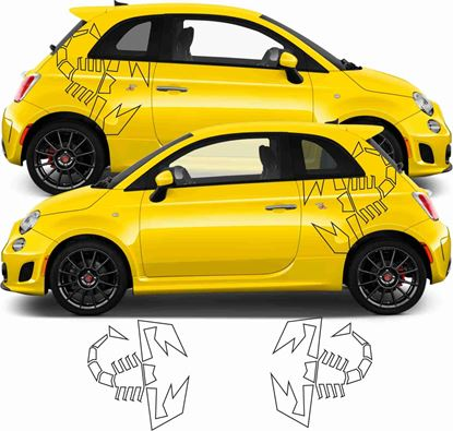 Picture of Fiat  500 / 595  Abarth Scorpion side Stickers / Decals