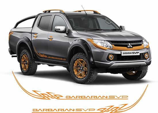 Picture of Mitsubishi L200 / Barbarian SPV Custom Tribal side Decals / Stickers