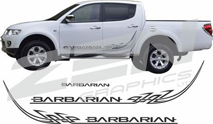 Picture of Mitsubishi L200 Barbarian Tribal side and rear Graphics / Stickers