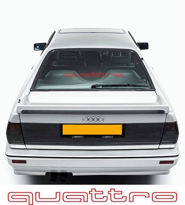 "Picture of Audi retro design ""Quattro""  outline rear screen Decal / Sticker"