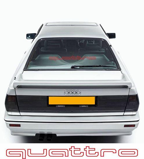 """Picture of Audi retro design """"Quattro""""  outline rear screen Decal / Sticker"""