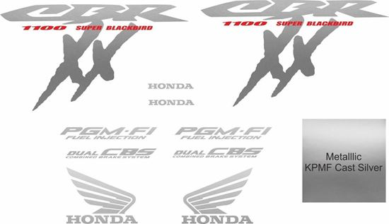 Picture of Honda CBR Super Blackbird 2000 - 2004 full replacement  Decals / Stickers