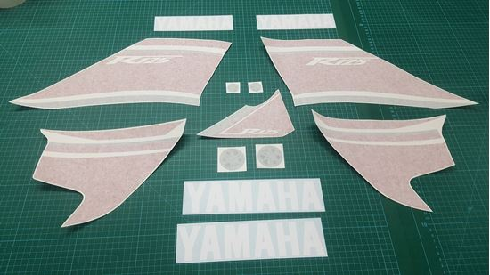 Picture of Yamaha YZF R125  Replacement Decals / Stickers (Red & White Bike)