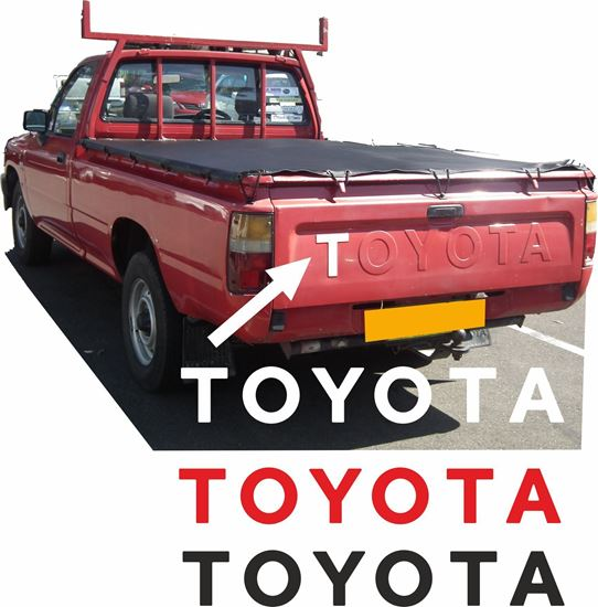 Picture of Toyota  Hilux pick up 1998 - 05 rear pressed letters overlay Decal / Sticker