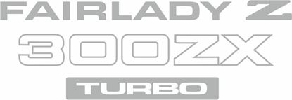 Picture of Nissan Fairlady Z 300ZX Turbo replacement rear  Decal / sticker