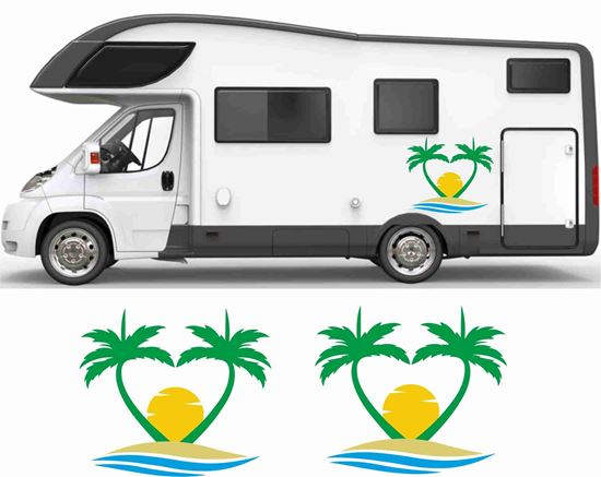 Picture of Beach and Palms General panel Decals / Stickers