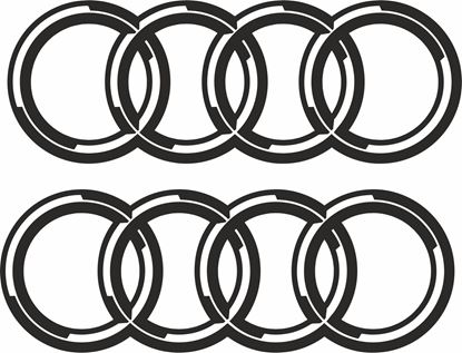 Picture of Audi Rings  Decals  / Stickers