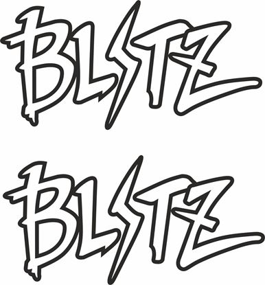 "Picture of ""Blitz"" JDM Decals / Stickers"