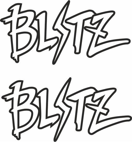 """Picture of """"Blitz"""" JDM Decals / Stickers"""