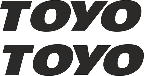 """Picture of """"Toyo"""" Tires Decals / Stickers"""