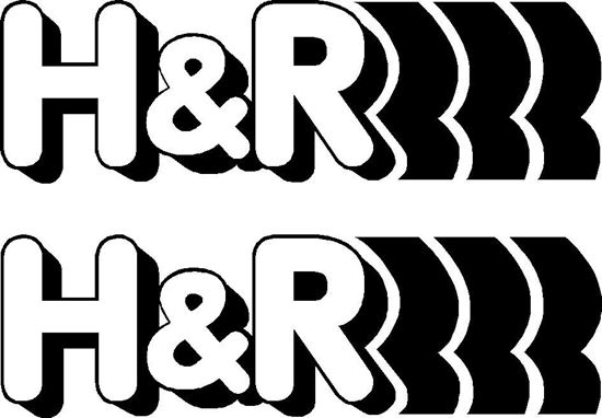 "Picture of ""H & R"" Decals / Stickers"