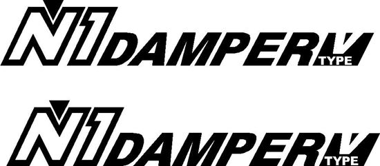 """Picture of """"N1 Damper V Type""""  Decals / Stickers"""