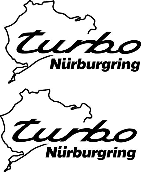 Picture of Porsche Turbo Nurburgring Decals Stickers