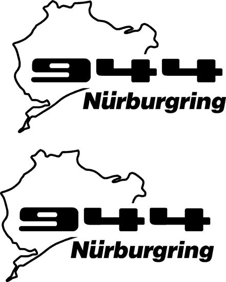 Picture of Porsche 944 Nurburgring Decals Stickers